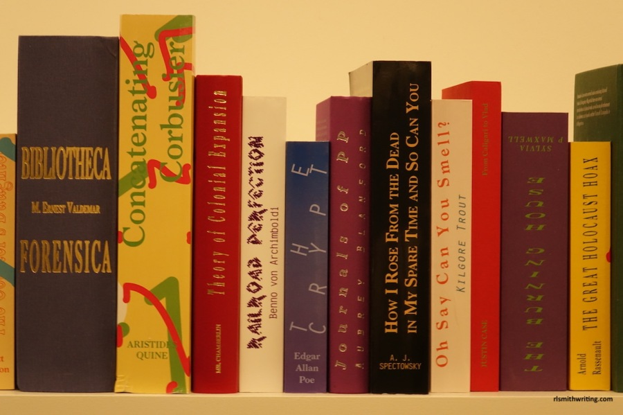 Books on shelf at Guggenheim, New York