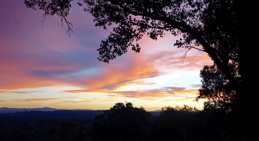 Sunrise over the Kinglake ranges from Warrandyte
