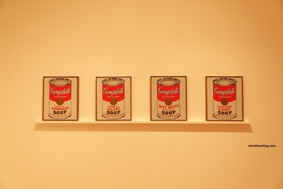 Cambells soup cans artwork at Whitney Museum of Modern Art, New York