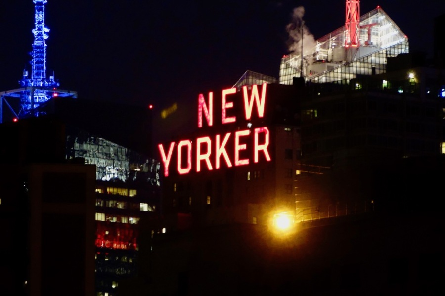 New Yorker sign in NYC