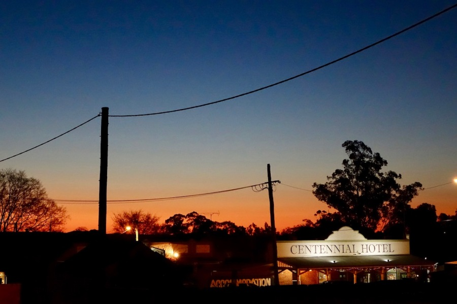 Centennial Hotel at sunset Gulgong, NSW
