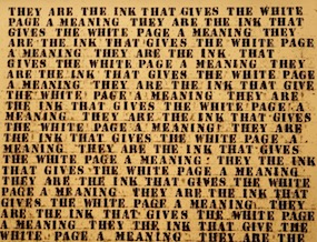 They are the ink that gives the white page meaning - artwork, Guggenheim museum, New York City;