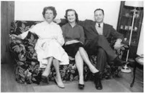 Margaret Millar with daughter Linda and Husband Ken